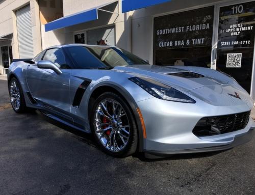 New Corvette In For Clear Bra